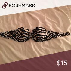 Zebra bikini top! Zebra bikini top! 32/34 A from Victoria secret! Wonderful condition! Victoria's Secret Swim Bikinis