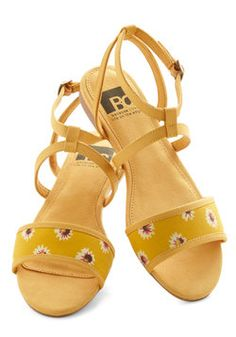 All's Flair in Love Sandal in Floral-34.99, #ModCloth