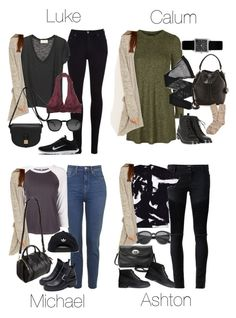 """""""5SOS Styles: Sparkle & Fade Cozy Grey Cardigan"""" by fivesecondsofinspiration ❤ liked on Polyvore featuring Each X Other, FOSSIL, H&M, Topshop, Giorgio Armani, Isabel Marant, Yves Saint Laurent, Madewell, Brooks Brothers and R13"""