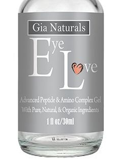Pure Natural and Organic EYE LOVE Eye Gel 1oz Plant Based Silk Protein Amino Acid MSM Cucumber Reduces Puffiness Dark Circles Wrinkles AntiAging Vegan Made in the US -- More info could be found at the image url. (Note:Amazon affiliate link)