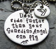 Guardian AngelHand Stamped Horse Quote by EquineExpressionsbyD