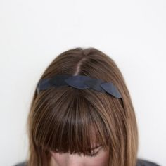 Make this cute headband from leather scraps.