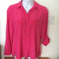Bundled/sold...Charter Club pink blouse 16 Charter Club pink button up blouse 16, sooo pretty.. Wear to work or with a cute pair of boyfriend jeans! Charter Club Tops Button Down Shirts
