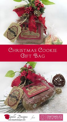 Craftaholics Anonymous® | DIY Christmas Cookie Gift Bag Idea: with Free Tutorial