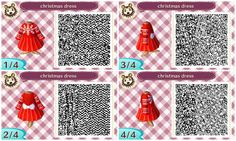 Animal Crossing New Leaf - Christmas Dress QR Code                                                                                                                                                                                 More