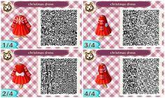 Animal Crossing New Leaf - Christmas Dress QR Code