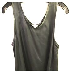 Joie silk tank. Olive-gray silk sleeveless top. Great condition. Joie Tops Blouses