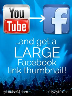 YouTube to Facebook Hack! Don't you hate getting a tiny thumbnail when posting YouTube videos on Facebook? Here's the trick you've been looking for. Get a BIG clickable link to drive traffic to your website or channel!