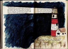 Lighthouse book art!