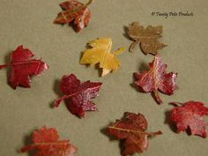 how to: make miniature leaves