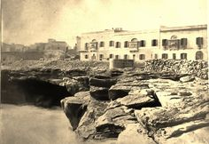 Sliema Piazza and coastline,  1869 Malta | by Lea Francis Ellis
