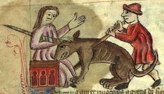 Medieval Bestiary : The Bestiary of Anne Walshe. The girl who has just betrayed the unicorn seems to show remorse (Figure 17).