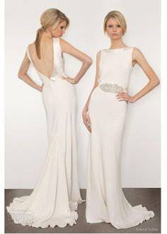 Sarah Janks Cassandra Column Wedding Dress