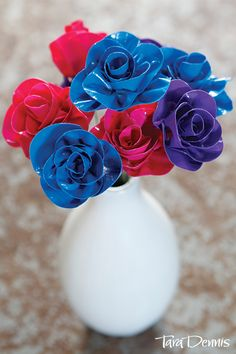 See how to make beautiful everlasting flowers for your Valentine, simply using duct tape. A fun, easy craft idea.