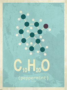 Molekyle Pebermynte 50x70