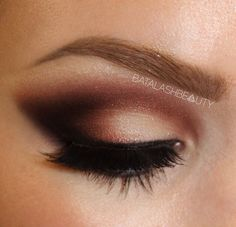 Warm smokey cut crease