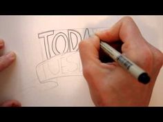 Draw Tip Tuesday - Lettering for your Art Journal - YouTube