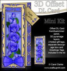 3D Offset Dl Just Roses Pyramage Mini Kit