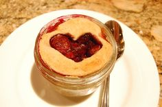 Individual cherry pies in 1/2 cup size mason jars! Brilliant, simply brilliant.