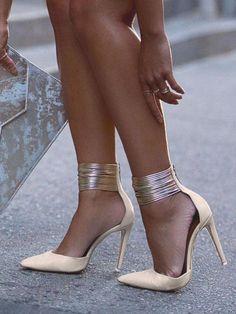 b6fb349e41a Office Look Pointed Toe High Heels  Platformhighheels Nude High Heels