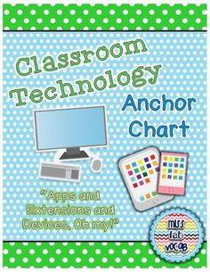 This simple and fair list of rules states exactly how students are expected to utilize a technology device in the classroom. With a poster and a handout included, you can present this to students in the first week of school, send the rules home to parents, and post a copy in your room as a reference! Although technology is an incredible resource to have in the classroom, it is only beneficial with the proper guidelines in place for students! Anchor Charts, Handout, New Technology, Classroom, The Incredibles, Joy, Parents, Students, School