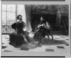 Cesare Borgia and Machiavelli | Cesare Borgia seated with Machiavelli]