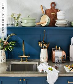 Letu0027s Make Dinner A More Stylish Affair, Shall We? | Shop Anthropologie  Cookware Navy