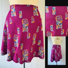 1970s Kitsch Flared Mini Skirt // Mid Century Carnaby Street Wear