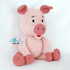 Bob the Piggy amigurumi pattern by Lovely Baby Gift