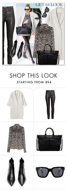 """""""The BEST Cold-Weather Style-Miranda Kerr"""" by j-sharon ❤ liked on Polyvore featuring Monki, H&M, Clips, Kooba, Acne Studios, Linda Farrow, GetTheLook, StreetStyle and celebstyle"""