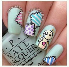 Having short nails is extremely practical. The problem is so many nail art and manicure designs that you'll find online Fancy Nails, Love Nails, Pretty Nails, My Nails, Pastel Nails, Cute Acrylic Nails, Nail Art Designs, Crazy Nail Designs, Nails Design