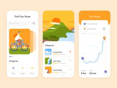 Mobile App - BikeMap designed by Outcrowd . Connect with them on Dribbble; the global community for designers and creative professionals. Web Design, App Ui Design, User Interface Design, Flat Design, Design Layouts, Graphic Design, Ui Design Mobile, Mobile Ui, Design Responsive