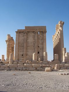 The Back of the Temple of Bel at Palmyra