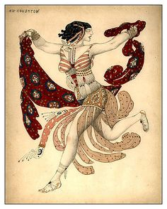 Costume of Cleopatra for Ida Rubinstain by Léon Samoilovitch Bakst