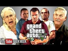 ▶ Elders React to Grand Theft Auto V (Geek Week) - YouTube sososososo funny laughing tooooo much! So much activity!