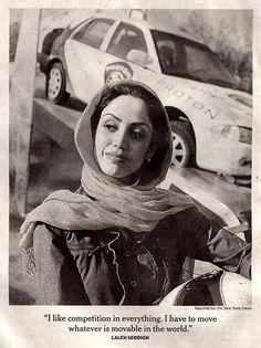 Laleh Seddigh - Muslim Formula 3 race car driver