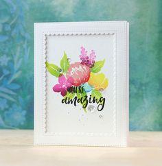 Mama Elephant-Brushed Florals | Doublestick Heaven | Bloglovin'