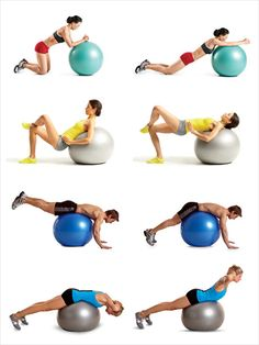 Swiss ball exercises!