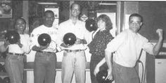 """Tammy King, John Hughes, Dave Iannelli, Susan Elderkin, and Harvey Hollins (all MPP '93) beat out five other teams comprised of IPPS students, faculty, and staff, for the night's coveted """"Best Bowlers at IPPS"""" honor."""