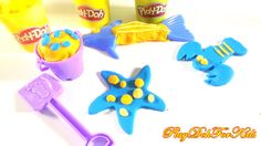 #Playdough Starfish for kids with Fish and shrimp - Fun #Play-Doh Videos...