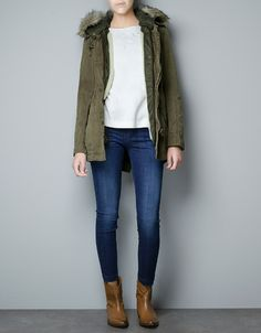 Found my winter coat!!! PARKA WITH DETACHABLE - Coats - Woman - ZARA United Kingdom