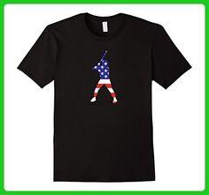Mens Patriotic American US Flag Fourth July Baseball T-shirt 3XL Black - Sports shirts (*Amazon Partner-Link)