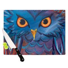 24 x 36 Kess InHouse Carina Povarchik Urban Owl Teal Kids Luxe Rectangle Panel