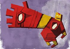 I Heart Pencils: abstracted #marvel - #IronMan