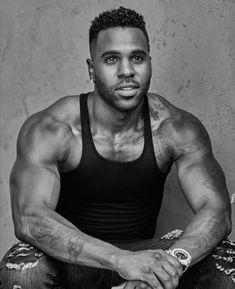 Gorgeous Black Men, Handsome Black Men, Beautiful Men Faces, Celebrity Dads, Celebrity Crush, Jason Deluro, Black Muscle Men, Ariana Grande Facts, Hot Black Guys