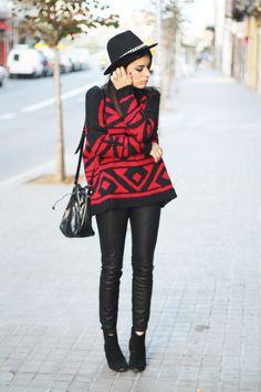 Sweater: Mango / Pants: Zara / Hat: Zara / Boots: Zara (Old) / Bag: Mango