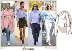 Le forme della camicia classica sono ribaltate e rinnovate.  Si gioca con volumi, tagli e tessuti da camiceria estivi. Maggiori dettagli su www.fashionforbreakfast.it