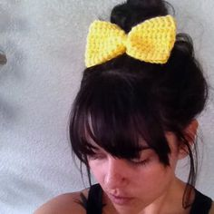 crochet bow barrette  eco friendly  vegan  PICK by saltcitydesign, $12.00