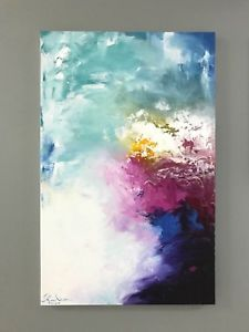 Original abstract paintings 70x110cm by Kom(2018,Acrylic on canvas),happiness 01 | eBay
