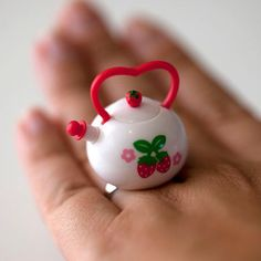 Kawaii Cute Miniature Food Ring Strawberry by fingerfooddelight, $10.00